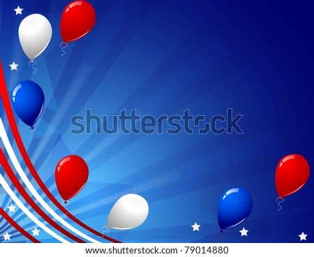Vector of independence day celebration card - stock vector