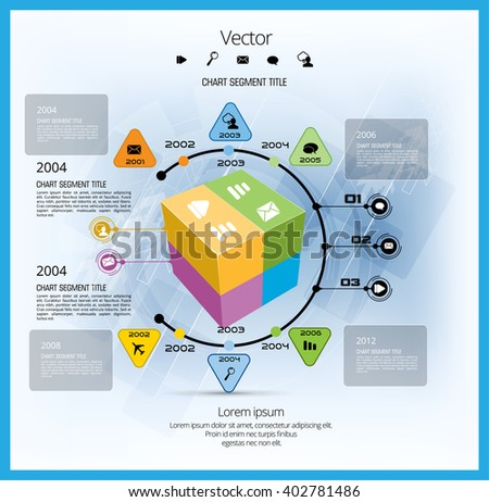 Vector of infographic - stock vector