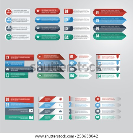 Vector of infographic element icon for Business .diagram,web design,banner template - stock vector