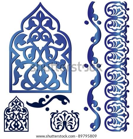 Vector of Islamic design element on white - stock vector