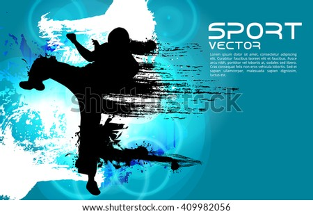 Vector of karate - stock vector
