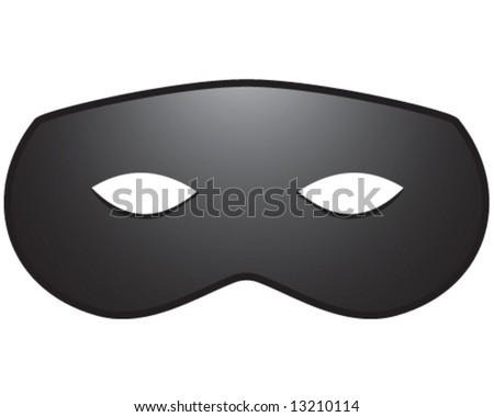 vector of lone ranger, superhero, or burglar mask - stock vector