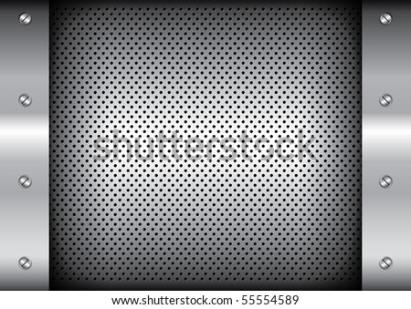 vector of metallic background - stock vector