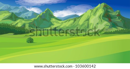 Vector of mountain landscape