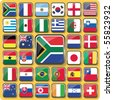 Vector of 32 Nation Flag Icons. - stock photo