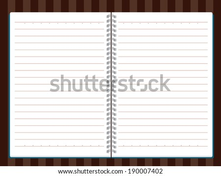 Vector of Note Book - stock vector