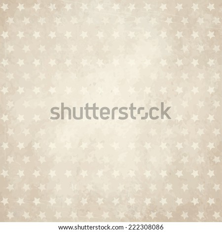 vector of old vintage paper background with stars - stock vector