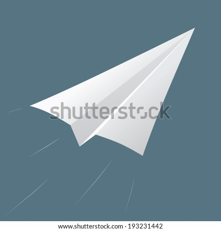 Vector Of Origami Rocket Paper Plane Airplane Isolated Illustration