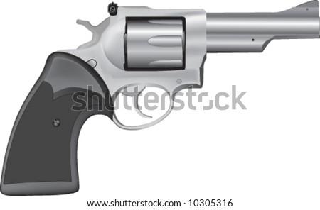 vector of realistic hand gun - stock vector