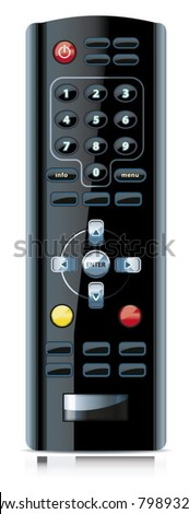 Vector of realistic looking remote control. - stock vector