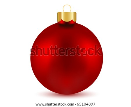 Vector of red Christmas ball - stock vector