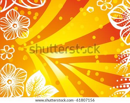 Vector of retro style flowers - stock vector