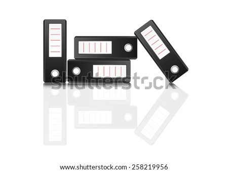 vector of ring binders on white background