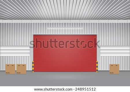 Vector of roller shutter door and concrete floor outside factory building for industrial background.  sc 1 st  Shutterstock & Roller Shutter Door Stock Images Royalty-Free Images u0026 Vectors ... pezcame.com