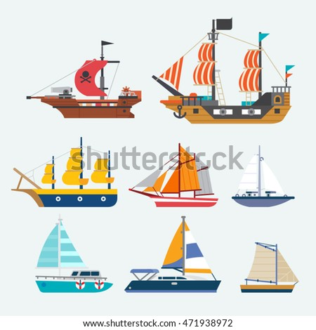 vector of sailboat