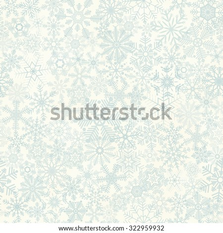 vector of seamless abstract snow flakes background for christmas time - stock vector