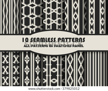 Vector of Seamless Patterns set - stock vector