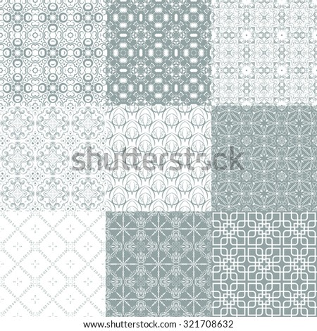 Vector of Seamless Patterns set. eps 8