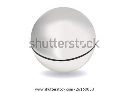 vector of silver/chrome-look ball - stock vector