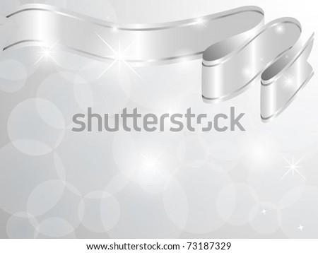 Vector of silver ribbon card - stock vector
