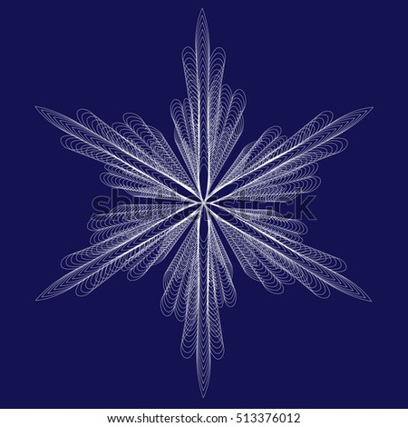 vector of snowflake