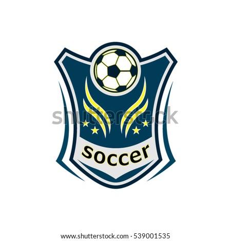 vector soccer logo design stock vector 539001535 shutterstock rh shutterstock com soccer logo creator software soccer logo creator online