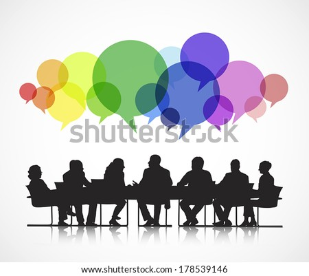 Vector of Social Business Meeting - stock vector