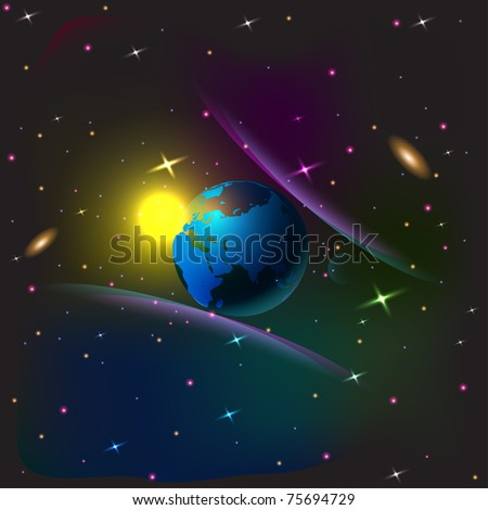 vector of space background - stock vector