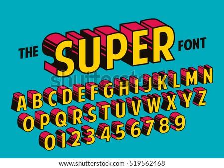Vector Stylized Retro Font Alphabet Stock Vector 519562468 ...