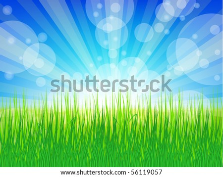 vector of Sunny background - stock vector