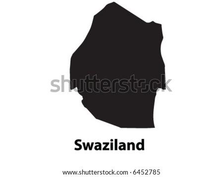 Vector of Swaziland - stock vector