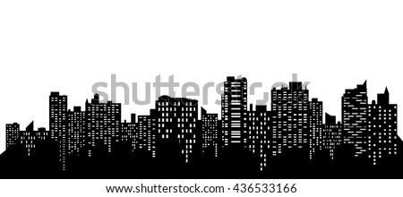 Vector of the cityscape skyline. - stock vector