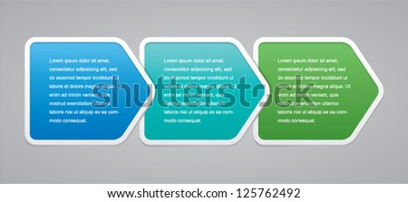 Vector of Three Step Boxes - stock vector