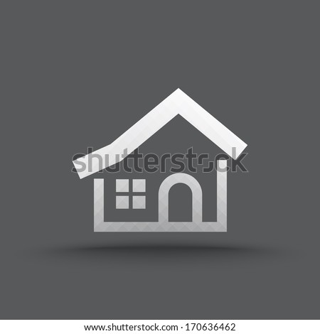 Vector of transparent house icon on isolated background - stock vector