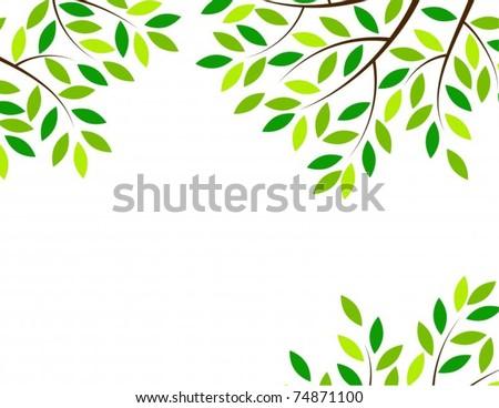 Vector Tree Frame Vector de stock74871100: Shutterstock