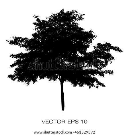 Vector of trees silhouettes
