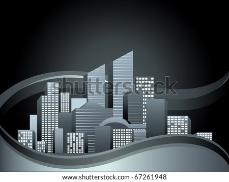 Vector of urban cityscape - stock vector
