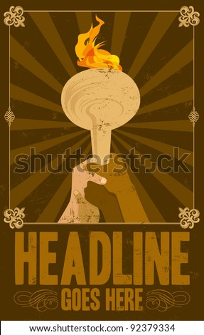 vector of vintage poster background - stock vector