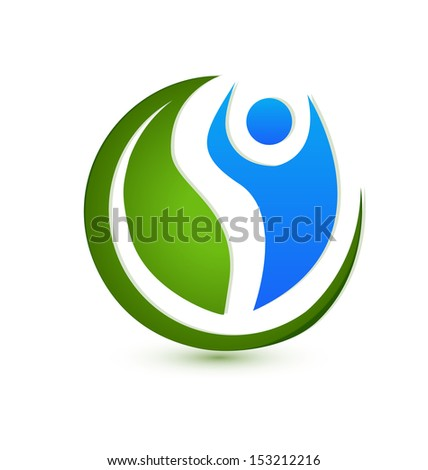 Vector of wellness concept icon - stock vector