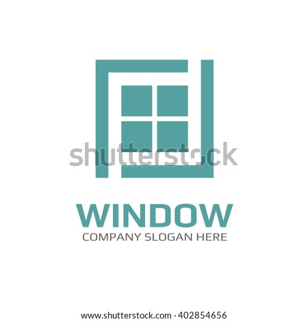 Vector of window icon. Business icon for the company. Logo for Building / Industry . Abstract symbol of window. Vector illustration. - stock vector
