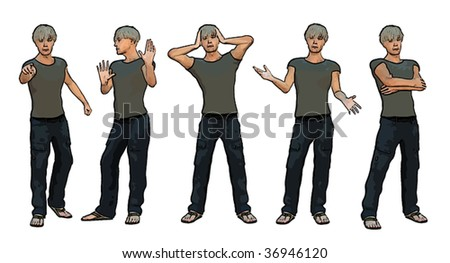 Vector of young man - part 01
