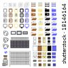 Vector 110 Office Icons is original artwork. - stock vector
