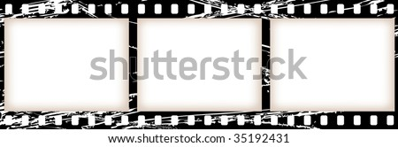 vector old celluloid film tape - stock vector