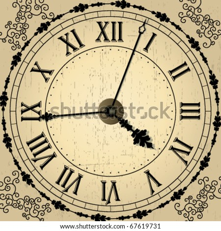 Vector old clock - stock vector
