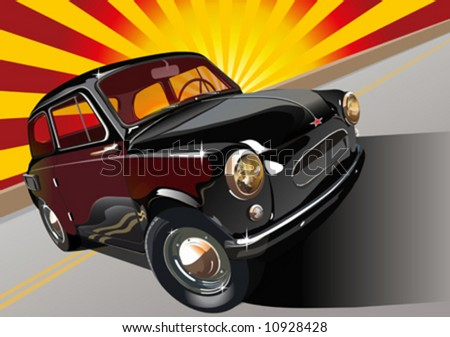 Vector old-fashioned soviet car. - stock vector