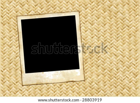 Vector Old Film On Wicker Placemat - stock vector