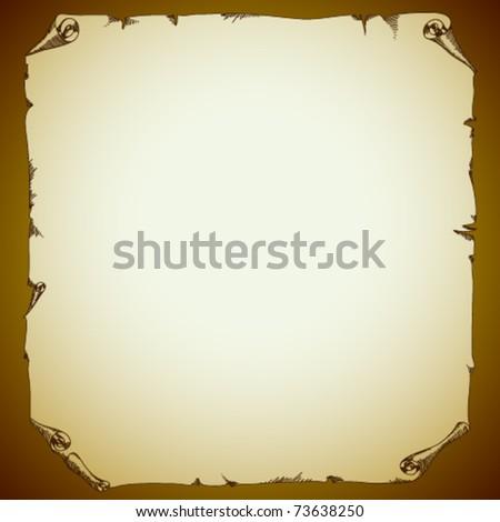 Vector old paper - stock vector