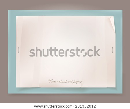 Vector old paper template. - stock vector