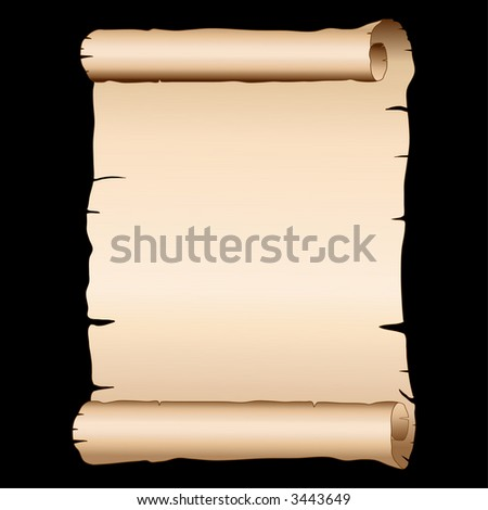 vector old papyrus - stock vector