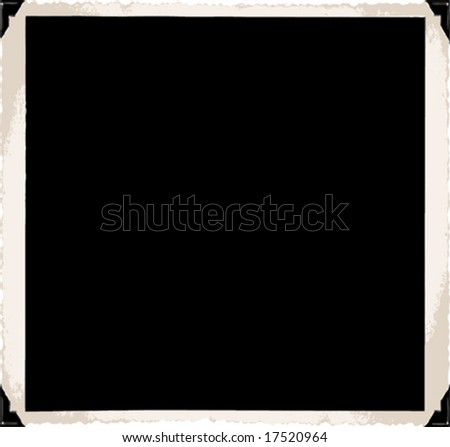 Vector old photo frame with corners - stock vector